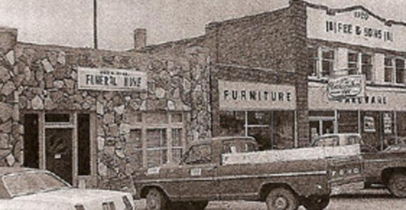 Early picture of A.E. Funeral Home and Furniture Store
