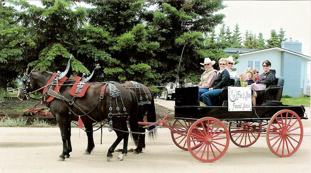 Horse Drawn Carriage at Fee & Sons Funeral Home